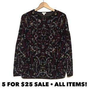 J Jill Abstract Sweater